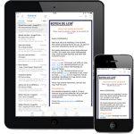 Nieuwsbrief op Ipad en Iphone